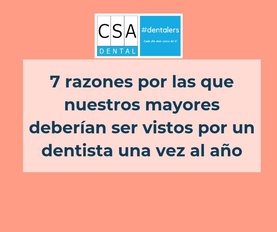 7 razones mayores dentista